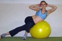 side crunches on the ball