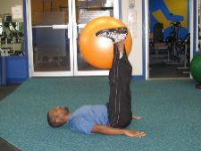 stability ball leg raises