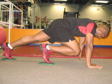 gliding disc mountain climbers