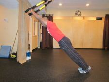 trx standing plank roll out
