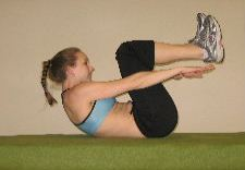 heel touch ab crunches