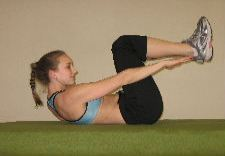 oblique heel touch ab crunches