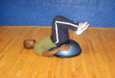 bosu ball lower ab crunches