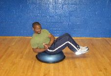 bosu ball russian twists
