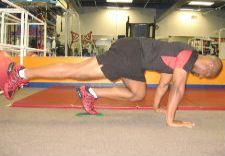 1 leg gliding disc knee ins