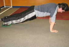 gliding disc core exercise combination 2