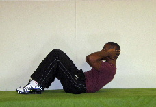 ab crunches, easy ab exercise