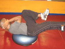 ab exercises on a bosu ball
