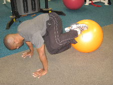 ball oblique roll ins