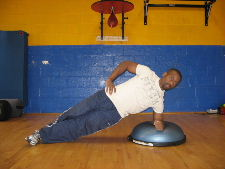 bosu ball side plank for obliques