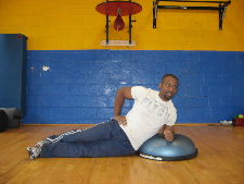 bosu ball oblique side plank