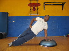 bosu ball side plank exercise