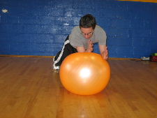 stability ball oblique rolls