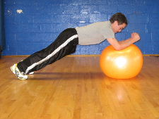 stability ball forward rolls
