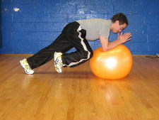 stability ball knee ins