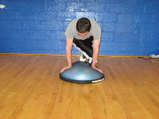 bosu ball knee ins for obliques