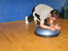 bosu ball oblique knee ins