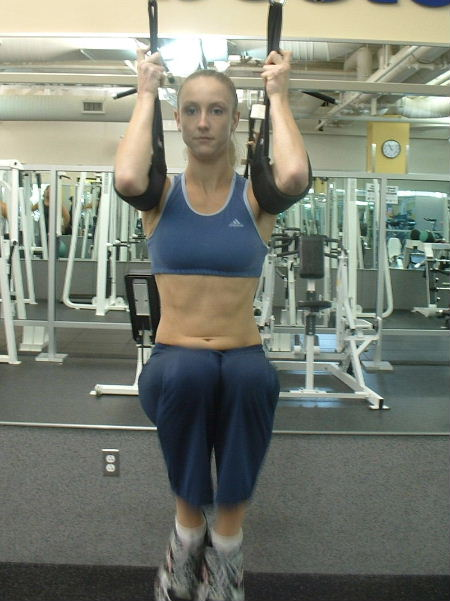 hanging leg raises with ab straps