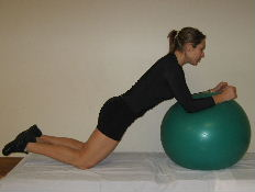 swiss ball ab exercise