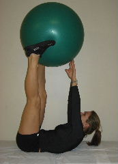 ball push crunches
