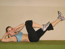 bicycle ab crunches