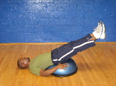 bosu ball ab exercise