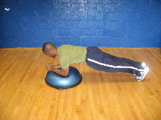 bosu ball side planks