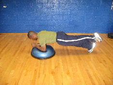 bosu ball 1 leg plank