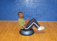 bosu ball russian twist