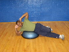 bosu ball side crunches
