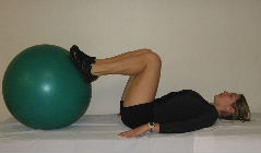 stability ball bridges, butt exercises