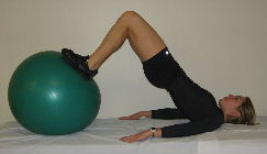 exercise ball bridges, butt exercises