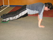 gliding disc core exercise combination 2