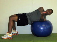 russian twist on a stability ball for abs