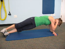 side planks with a twist