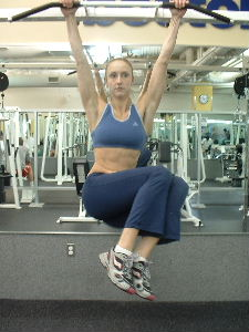 hanging oblique raises