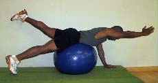 lower back exercise on the ball