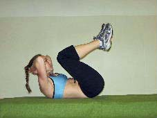 double crunches ab exercise