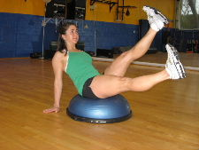 bosu ball flutter kicks