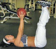 medicine ball crunches for abs