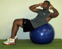 oblique ball crunches