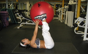 exercise ball ab exercise