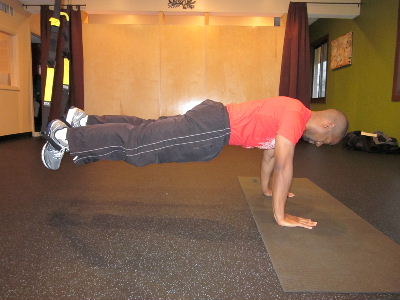 trx knees in for the core