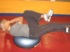 ab exercises on a bosu ball