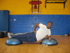 bosu ball side planks
