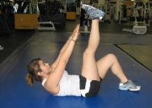 leg raise and crunch combo