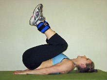 ankle weight and reverse crunches