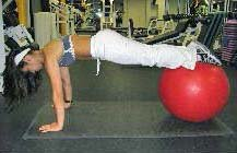 Stability ball piques