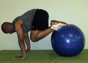 stability ball ab exercise