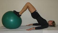 exercise ball bridges, butt exercises